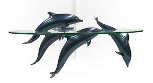 dolphin table with glass top dolphin table glass top coffee table for sale
