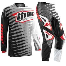 youth thor motocross gear kids new thor motocross gear mx phase vented rift gray red youth