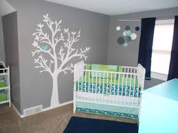 home decor nursery design grey blue white neutral baby boy