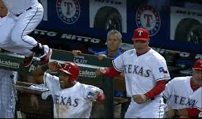 Jeff Banister Gif Texas Manager Jeff Banister Realizes He Is Celebrating The