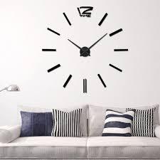 Home Decor Wholesalers Canada Wholesale Recommend Quartz Diy 3d Wall Clock 20 Inch Large Clock