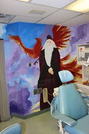 dentists mural magic for our super hero kids