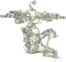 felix ip 蟻速畫行 robot sketches by mattias adolfsson