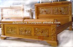 Teak Wood Modern Bed Designs Bedroom Brown Wooden Canopy Beds With White Fabric Curtains And