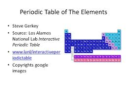 los alamos periodic table periodic table of the elements steve gerkey source los alamos