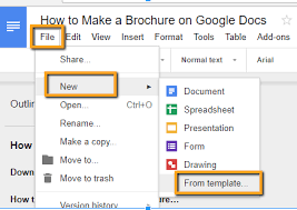 templates for brochures in google docs how to make a brochure on google docs in two ways