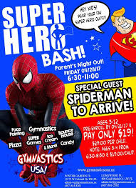 Winter Garden Gymnastics - super hero bash at at our winter garden and longwood locations