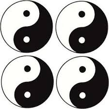 yin yang symbol car decal sticker small pack of 4 ebay