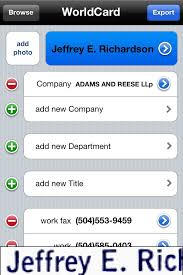 App To Scan Business Cards Review Worldcard Mobile Scan Business Cards With Your Iphone