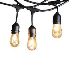 Commercial Grade Patio Light String by 48 Foot Weatherproof Outdoor String Lights S14 Led Bulbs Included