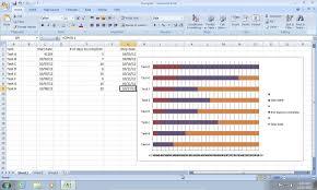 how to make excel 2007 gantt chart youtube