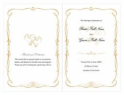 one page wedding program template one page wedding program template all about letter