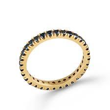 inele aur aur 14k cz negru sabrini