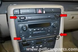 audi a4 b6 center console removal 2002 2008 pelican parts diy