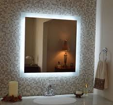 bronze wall mirror with lights for small bathroom layout