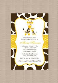 giraffe baby shower ideas giraffe baby shower invitations marialonghi