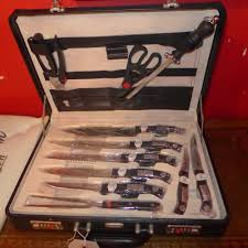 a complete cased rosenbaum solingen knife set including eight