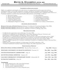Veterinary Resume Examples by Veterinarian Resume Haadyaooverbayresort Com