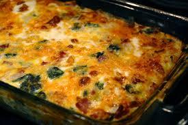 egg strata casserole egg ham spinach hashbrown casserole