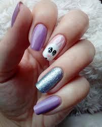 cute purple funny acrylic nail design 2017 styles art nails
