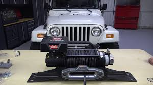 jeep yj winch fb21052 tj wrangler winch plate installation guide youtube