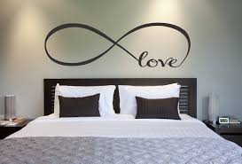 decorations for walls in bedroom gorgeous love infinity symbol bedroom wall decal decor on