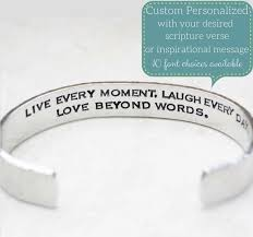Personalized Cuff Bracelet Create Your Own Personalized Jewelry Clothed With Truth