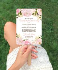 diy wedding ceremony program fans unique wedding ideas wedding fan program wedding ideas on a