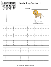 letter l worksheets for preschool kindergarten printable
