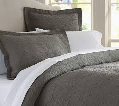 rustic luxe bedding flagstone grey mist pottery barn