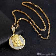 gold jesus pendant necklace images Wholesale men 39 s exquisite jesus pendant with 18k gold necklace jpg