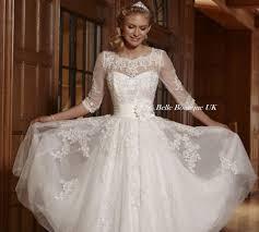 tea length wedding dresses uk imogen ivory white tea length lace wedding bridal dress uk