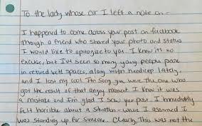 Thank You Letter Veterans veteran slammed for using vet s parking spot gets apology from