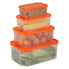 Orange Kitchen Canisters Ideas 4 Piece Clear Plastic Storage Containers Walmart With