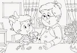 grandparents day coloring sheets free coloring sheet