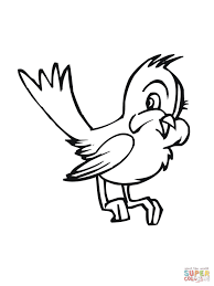 cute cartoon bluebird coloring page free printable coloring pages