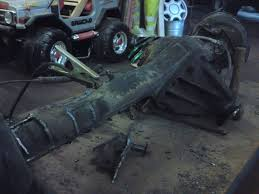 fjz80 landcruiser rear axle with difflock part stripped to go
