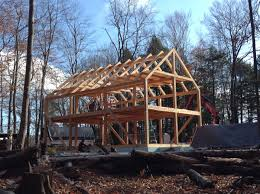 24x40 casco bay barn house timber frame timber frames