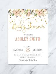 baby shower invitations girl floral baby shower invitation garden baby shower luncheon girl