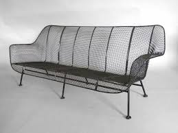 Wrought Iron Mesh Patio Furniture by Full Size Woodard Wrought Iron With Steel Mesh Couch At 1stdibs