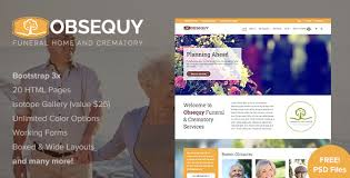 obsequy funeral home responsive html5 template by imicreation