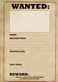 wanted poster template by joeroberts89 teaching resources tes