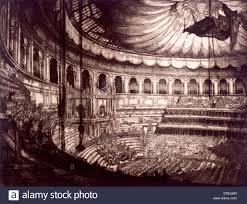 interior view of the royal albert hall kensington london 1916