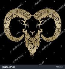 ornamental decorative sheep stock vector 177897290