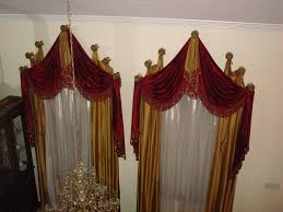 window treatments drapes curtains custom arch hardware