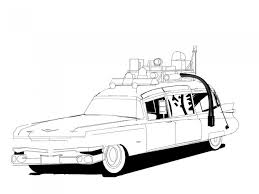 9 images ghostbusters car coloring pages ghostbusters