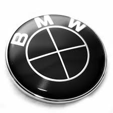 black and white bmw logo bmw black trunk emblems