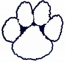 auburn tiger pawprint pattern outline kevin amanda