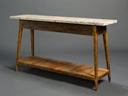 Stone Sofa Table Stone Top Console With Shelf U2013 Landrum Tables