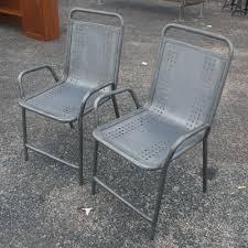 Outdoor Metal Chairs Vintage Metal Outdoor Patio Tulip Chairs Outdoor Metal Patio Arm